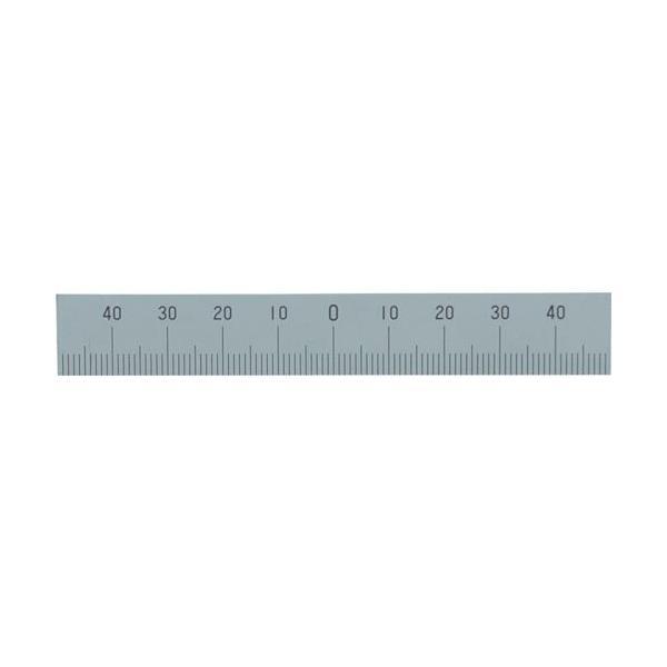 シンワ マシンスケール100mm下段左右振分目盛穴無 ( 14160 ) シンワ測定(株)