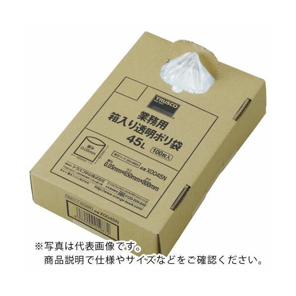 TRUSCO まとめ買い 業務用ポリ袋 透明・箱入り 0.05X120L (100枚入) (X0120N) トラスコ中山(株)