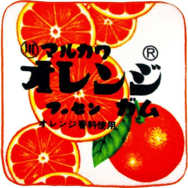 マルカワフーセンガム オレンジ やわらかミニタオル