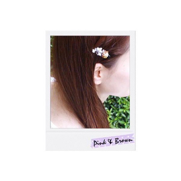 ヘアクリップ/簡単ヘアアレンジ/ピンチクリップ/天然石/小百合/ヘアアクセサリー ゆうパケット対応|hair|02