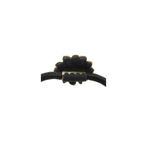 ヘアゴム 簡単ヘアアレンジ ヘアゴム フラワーA マットブラック ヘアアクセサリー ゆうパケット対応|hair|04