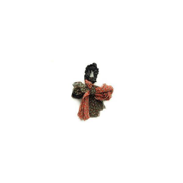 ヘアゴム スカーフ リボン ヘアアクセサリー シフォン プリント ノーチェ ゆうパケット対応|hair|04