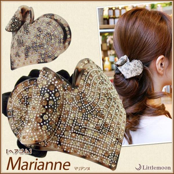 ヘアゴム Marble Marble マリアンヌ ヘアアクセサリー べっ甲風 マーブルマーブル hair