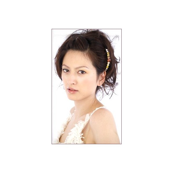 女髪の夜会巻きコーム ルフラン 20本櫛 ジルコニア 華やか ゴージャス 上品 シンプル ヘアアクセサリー|hair|03