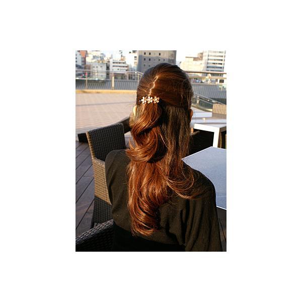ヘアピン パーティー ジルコニアパッチン留め シャンパン ヘアアクセサリー|hair|02