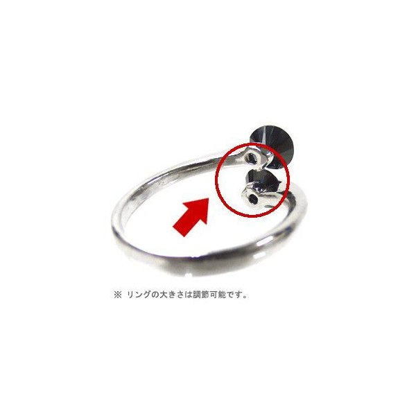 指輪 パーティー クリスタルリング ツイングレイン ヘアアクセサリー ゆうパケット対応|hair|04