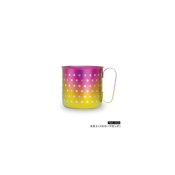 HORIE/ホリエ チタンデザインマグカップ 水玉S イエローマゼンタ TMA-203A