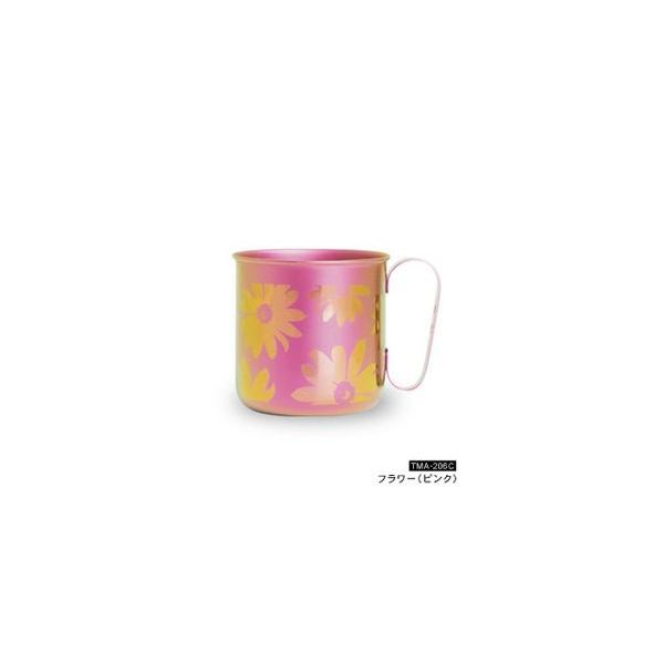 HORIE/ホリエ チタンデザインマグカップ フラワー パープル TMA-206D