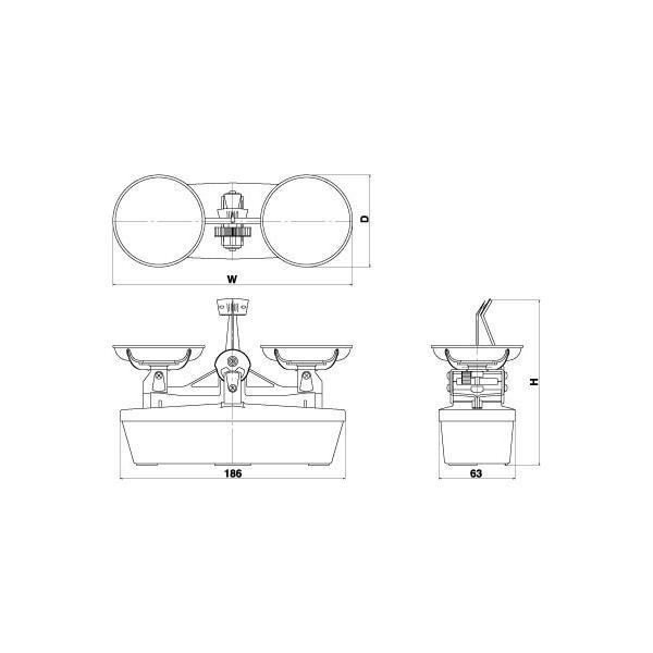 村上衡器 MS-100 普通型上皿天びん 分銅付セット ひょう量100g 感量100mg 日本製 MURAKAMI|hakaronet|02