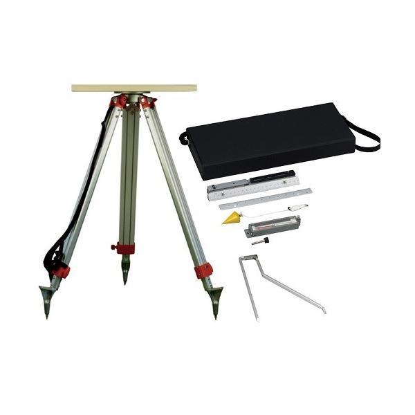 田村型平板測量器セット TPT-SET (金属アリダードセット+平板+移動器+三脚)|hakarumono