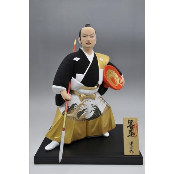 博多人形 【黒田武士(G)】 「黄金の国の侍」御祝の代表格・伝統工芸博多人形|hakata-honpo|02