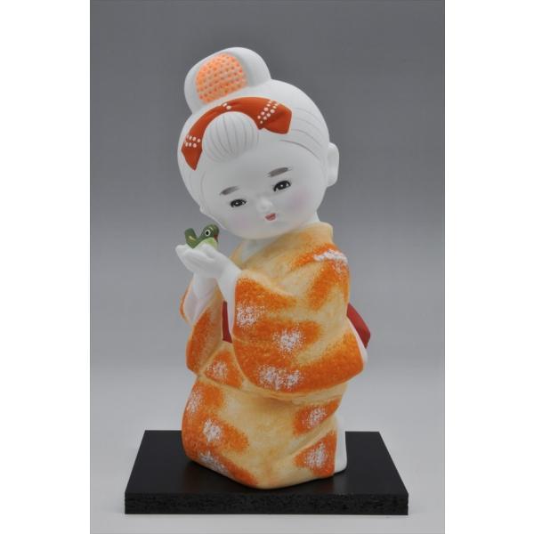 博多人形 【少女うぐいす】 ま〜可愛い!!|hakata-honpo