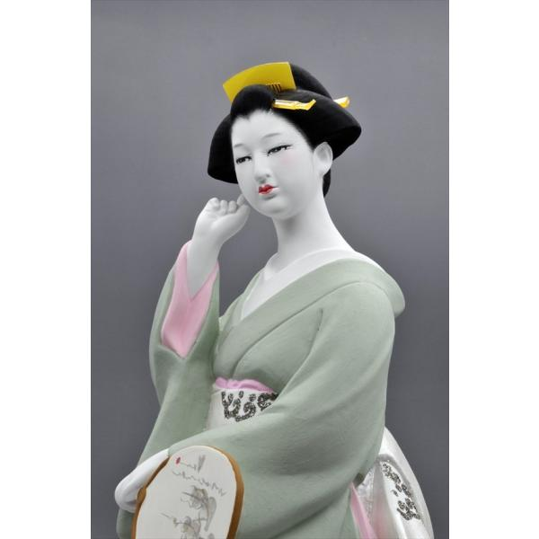 博多人形 【夕 凪】 博多人形でも珍しい、夏の美人物。優雅な姿に〜うっとり・・・|hakata-honpo|04