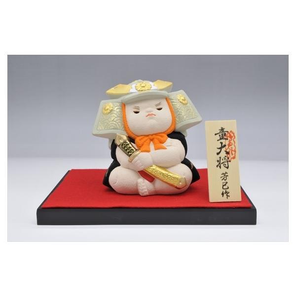 博多人形 【童大将】 凛々しさと可愛らしさが同居しています hakata-honpo