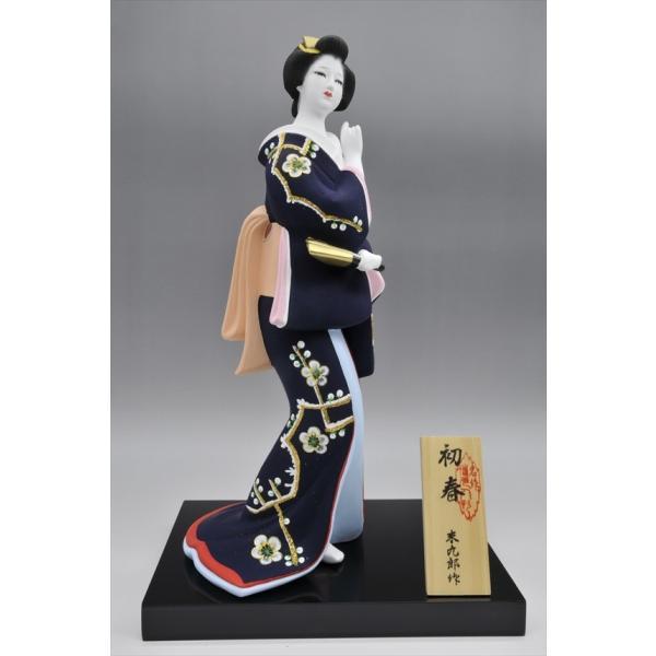 博多人形 【初 春】  青 最も売れている「女性物」!!様々な場面でご利用頂ける日本の人形です(人形ケース付)|hakata-honpo|03