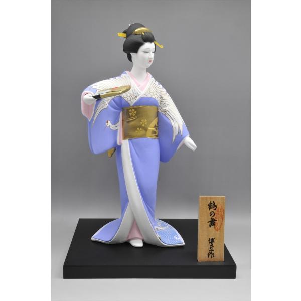 博多人形 【鶴の舞】 博多美人を表現|hakata-honpo|02
