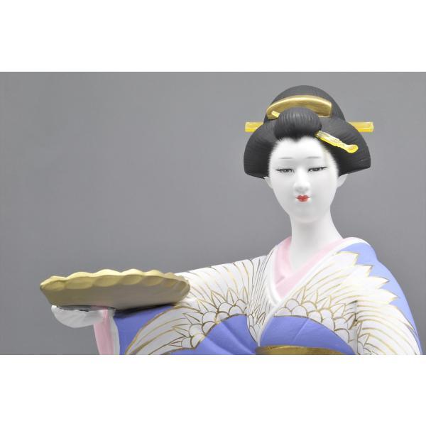博多人形 【鶴の舞】 博多美人を表現|hakata-honpo|03