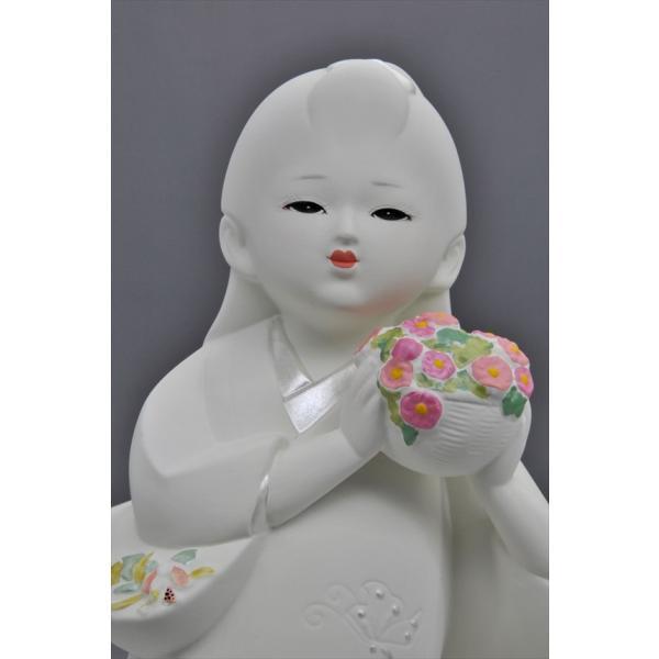 博多人形 【花つみ】 白い花の妖精みたいな人形 hakata-honpo 03