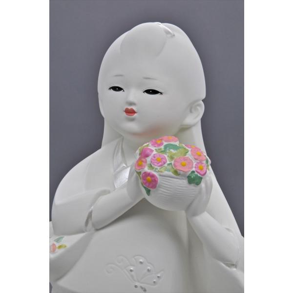 博多人形 【花つみ】 白い花の妖精みたいな人形 hakata-honpo 04