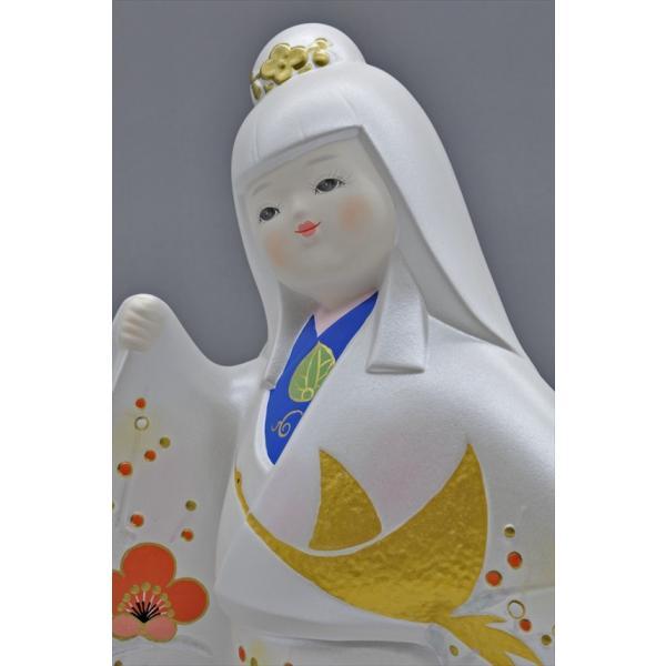 博多人形 【祝 鶴】 各種御祝・ギフトにお奨め。施された金の鶴が、ひときわ美しい!(人形ケース付き)|hakata-honpo|05