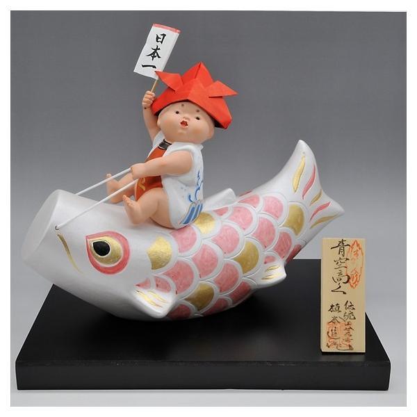 博多人形 【青空高く(赤)】 元気いっぱい!!夢いっぱい!!五月人形|hakata-honpo