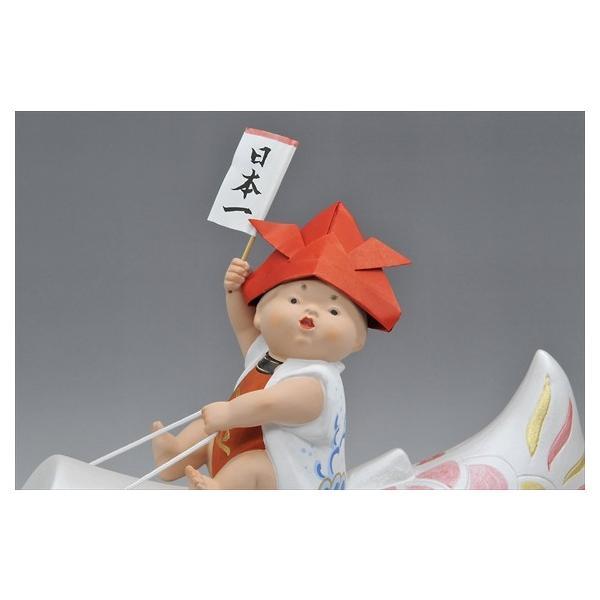 博多人形 【青空高く(赤)】 元気いっぱい!!夢いっぱい!!五月人形|hakata-honpo|03
