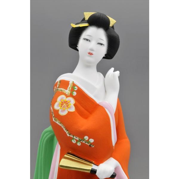 博多人形 【初 春】  赤 最も売れている「女性物」!!様々な場面でご利用頂ける日本の人形です|hakata-honpo|03