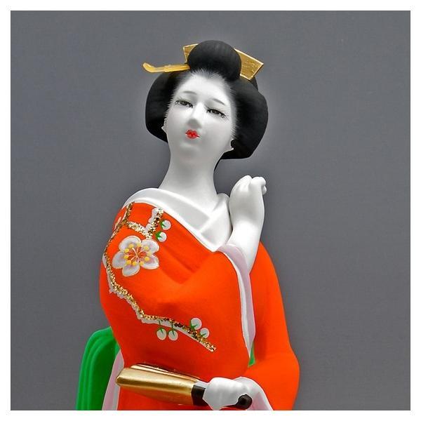 博多人形 【初 春】  赤 最も売れている「女性物」!!様々な場面でご利用頂ける日本の人形です|hakata-honpo|04