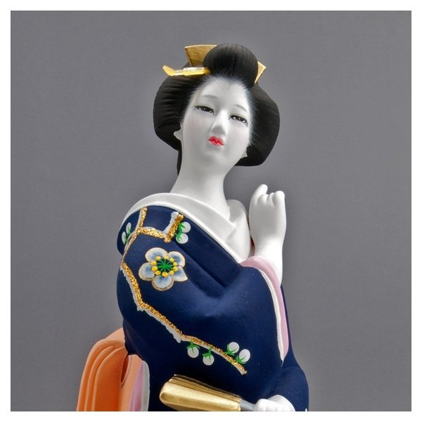 博多人形 【初 春】  青 最も売れている「女性物」!!様々な場面でご利用頂ける日本の人形です|hakata-honpo|04