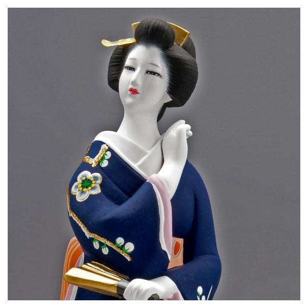 博多人形 【初 春】  青 最も売れている「女性物」!!様々な場面でご利用頂ける日本の人形です|hakata-honpo|05