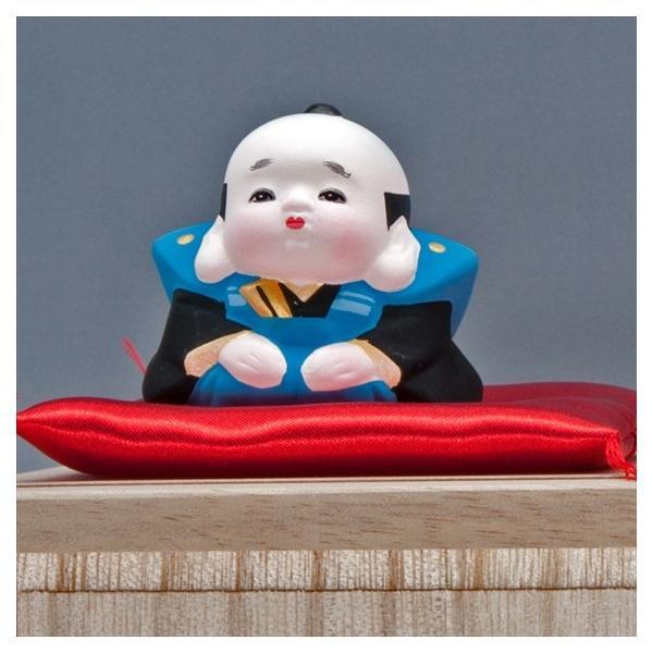 博多人形 【三福三(さんぷくさん)福助】  福を招くと言われる福助さん。|hakata-honpo|03