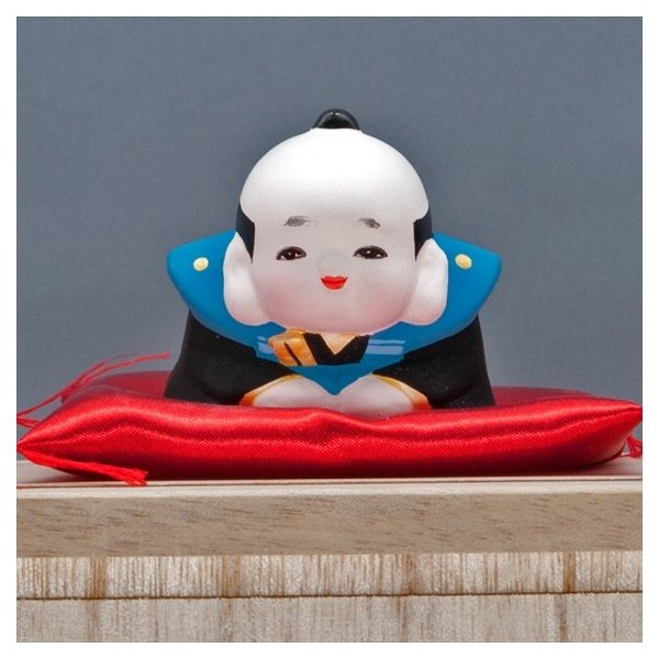 博多人形 【三福三(さんぷくさん)福助】  福を招くと言われる福助さん。|hakata-honpo|04