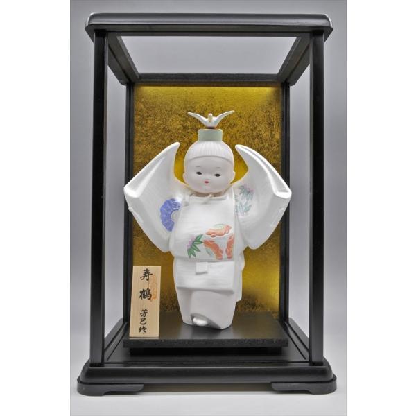 博多人形 【寿 鶴】  ご多幸を祈って「鶴」を舞う|hakata-honpo