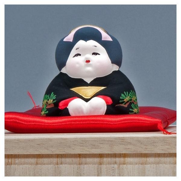 博多人形 【三福三 (さんぷくさん)お福さん】  福の神といわれ、招福万来のお福さん|hakata-honpo|02