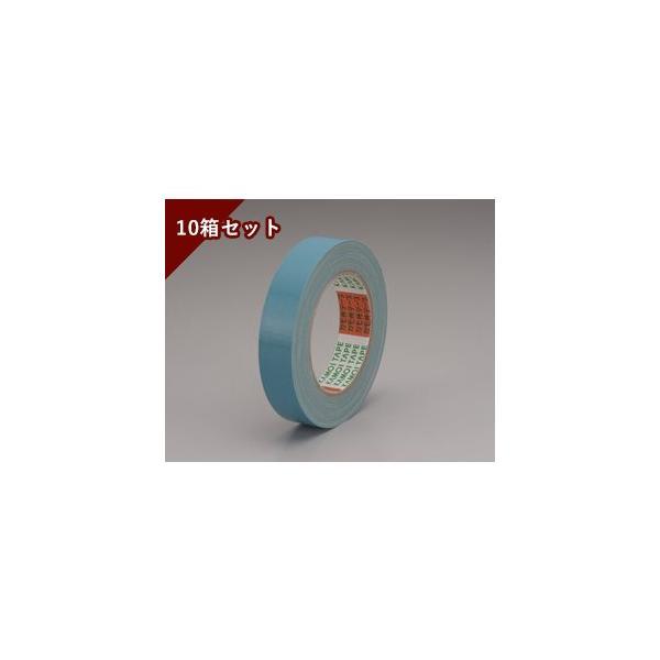 養生・マスキングテープ カモイ布テープ#6708 ソラ 50mm×25m 青 10箱セット 1箱30巻入り