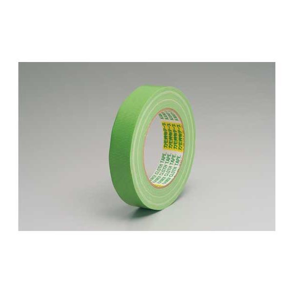 養生・マスキングテープ カモイ布テープ#6708 緑 25mm×25m 緑 60巻入り