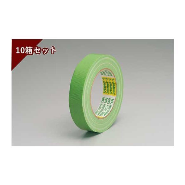 養生・マスキングテープ カモイ布テープ#6708 緑 25mm×25m 緑 10箱セット 1箱60巻入り
