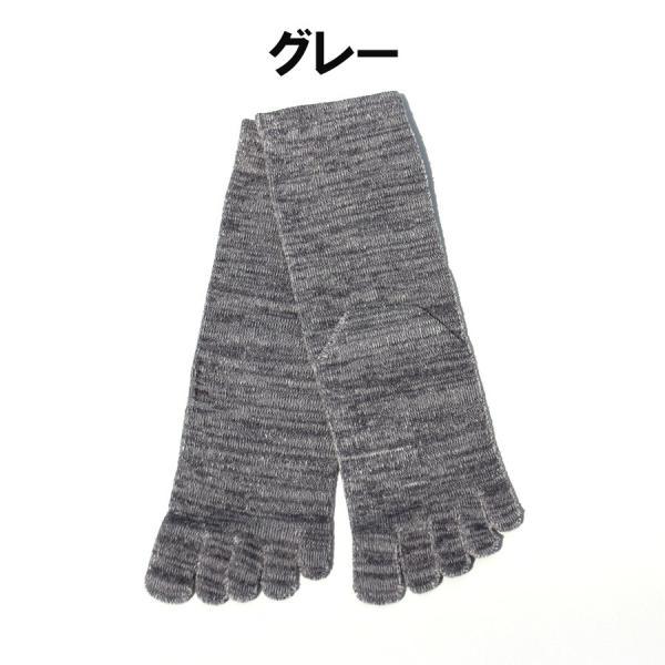 日本製 内絹外綿 五本指 シルクソックス クルー丈 hakigokochi-sore 02