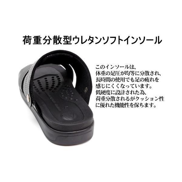 RUDOLPH VALENTINO メンズ  2WAY バックバンドサンダル 日本製 ブラック|hakimonoya|03