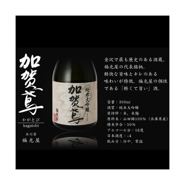 日本酒 純米大吟醸 ギフト 送料無料 純米大吟醸 ミニボトル 飲み比べセット 300ml 5本 上善如水 加賀鳶 酒|hako-bune|13