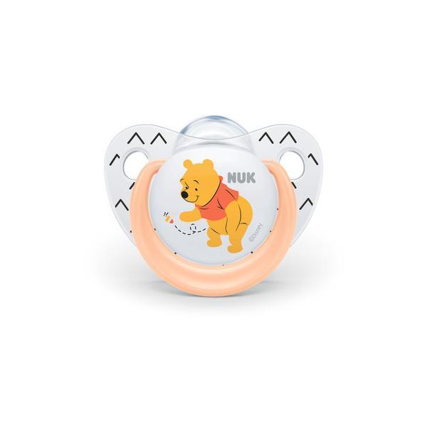 NUK ヌーク おしゃぶり(消毒ケース付き)/6-18カ月/くまのプーさん/オレンジ
