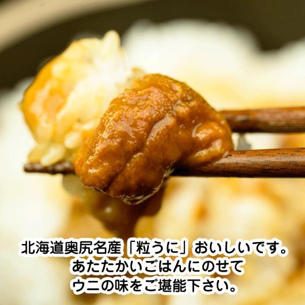 ウニ うに 送料無料 北海道産(塩うに)甘口 奥尻の粒うに 120g(60g×2本) ウニ 瓶詰め 北海道函館製造 ウニの甘口塩辛 (奥尻産の生うに使用) urchin|hakodate-e-kombu|04
