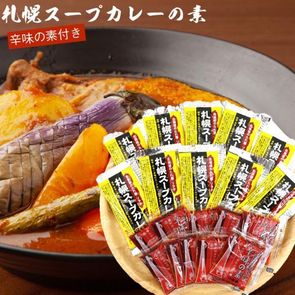 札幌スープカレーの素10食分(北海道ソラチ(濃縮タイプ)札幌スープカレー北海道お土産メール便消化食品