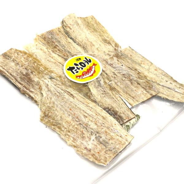 干したら 国産 寒干し鱈) 北海道産 皮つき たらロール110g たら 干しタラ 珍味 干し鱈 メール便 送料無料 ポイント消化 食品|hakodate-e-kombu|03