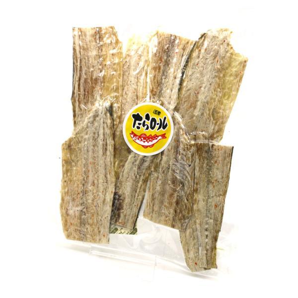 干したら 国産 寒干し鱈) 北海道産 皮つき たらロール110g たら 干しタラ 珍味 干し鱈 メール便 送料無料 ポイント消化 食品|hakodate-e-kombu|04