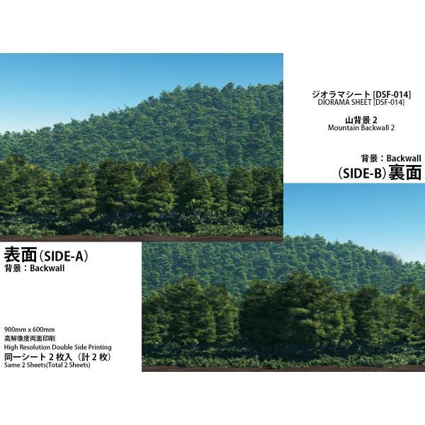 箱庭技研 ジオラマシートDSF-014山背景22枚入