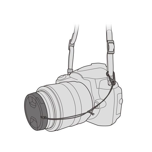 ハクバ レンズプロテクトキャップ 55mm ブラック KA-LCP55 4977187320411