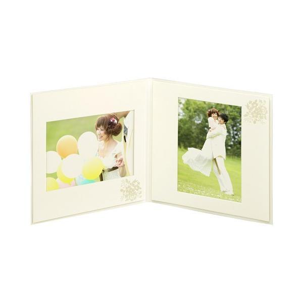 ハクバ ペーパースクウェア婚礼用台紙 No.180 写真サイズ:2L 2面 角・角 M180-SQ2L-2 4977187622522|hakuba|03
