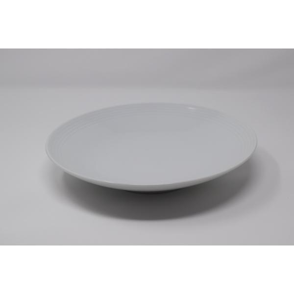 有田焼 博泉窯 白磁線文皿 中村慎 作 手造り シンプル カレー皿 パスタ皿 きれいな白磁 贈り物 ギフト 食器 |hakusengama
