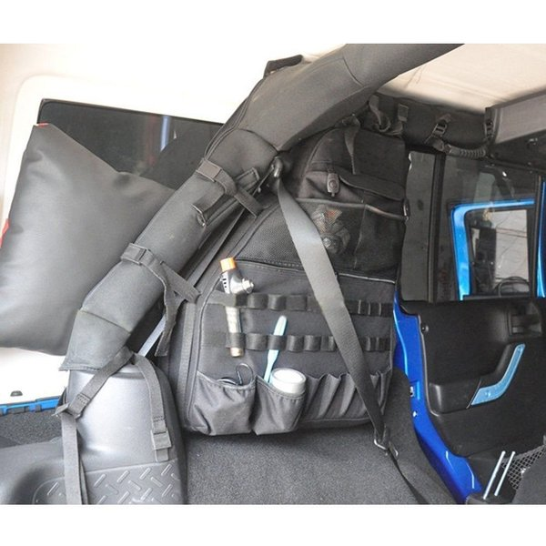 Multi-Pockets Storage/&Roll Bar Bag Lantsun Holder Cargo Bag for Jeep Wrangler JK 2007-2018 Unlimited 4 Door J083